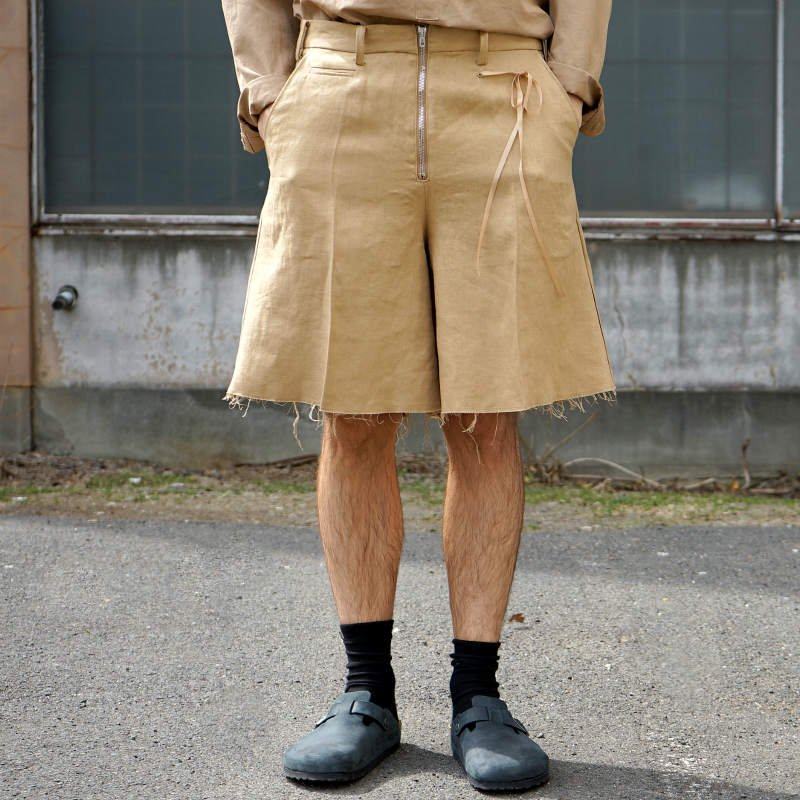 <img class='new_mark_img1' src='https://img.shop-pro.jp/img/new/icons8.gif' style='border:none;display:inline;margin:0px;padding:0px;width:auto;' />[Midorikawa] SHORT PANTS (BEIGE)  MID20SS-P06 A