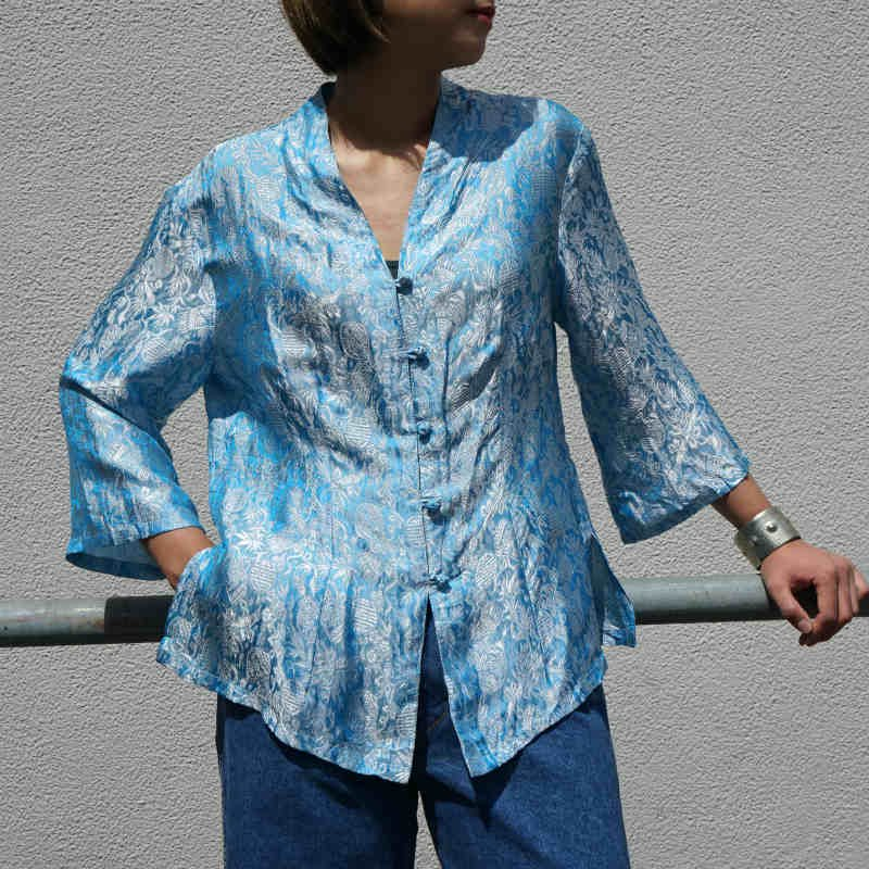 <img class='new_mark_img1' src='https://img.shop-pro.jp/img/new/icons6.gif' style='border:none;display:inline;margin:0px;padding:0px;width:auto;' />[MaW VINTAGE] China Blouse