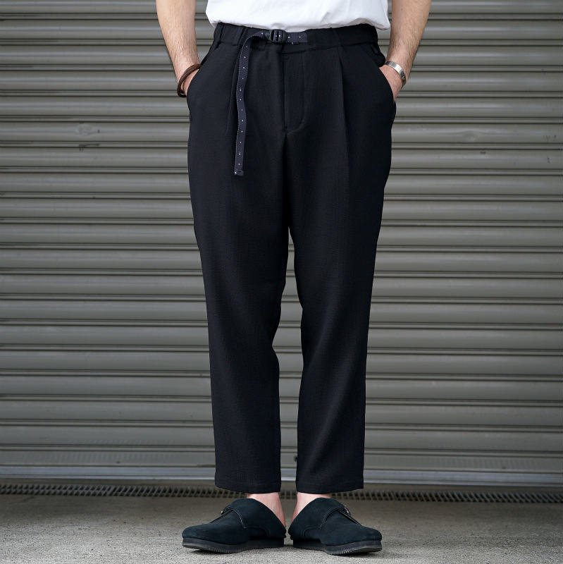 <img class='new_mark_img1' src='https://img.shop-pro.jp/img/new/icons50.gif' style='border:none;display:inline;margin:0px;padding:0px;width:auto;' />[O-] オー NARROW EASY TROUSERS (Black)
