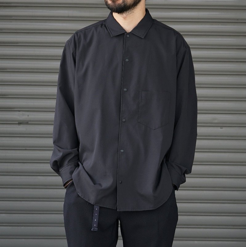 <img class='new_mark_img1' src='https://img.shop-pro.jp/img/new/icons8.gif' style='border:none;display:inline;margin:0px;padding:0px;width:auto;' />[O-] オー BAGGY SHIRT (BLACK)