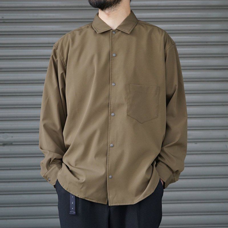 <img class='new_mark_img1' src='https://img.shop-pro.jp/img/new/icons8.gif' style='border:none;display:inline;margin:0px;padding:0px;width:auto;' />[O-] オー BAGGY SHIRT (Olive)