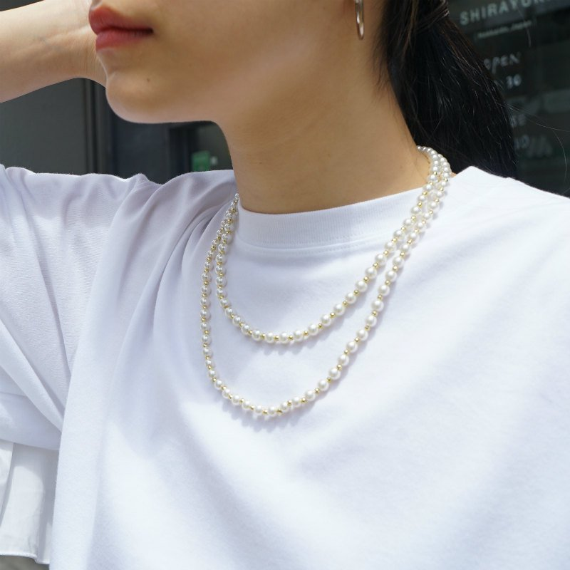 <img class='new_mark_img1' src='https://img.shop-pro.jp/img/new/icons50.gif' style='border:none;display:inline;margin:0px;padding:0px;width:auto;' />[MaW VINTAGE] Pearl Necklace