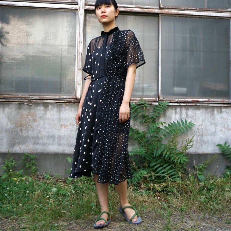 <img class='new_mark_img1' src='https://img.shop-pro.jp/img/new/icons6.gif' style='border:none;display:inline;margin:0px;padding:0px;width:auto;' />[sacai] サカイ 20-05060 Polka Dot Dress(BLACK)