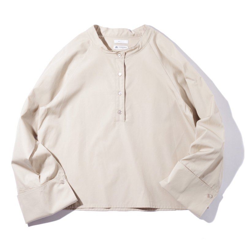 <img class='new_mark_img1' src='https://img.shop-pro.jp/img/new/icons8.gif' style='border:none;display:inline;margin:0px;padding:0px;width:auto;' /> [MY] マイ T/M DOUBLE CUFFS SHIRT (BEIGE・GREEN STRIPE) 203-61303