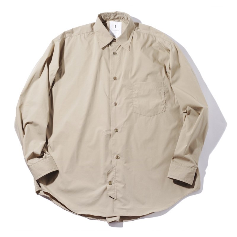 <img class='new_mark_img1' src='https://img.shop-pro.jp/img/new/icons8.gif' style='border:none;display:inline;margin:0px;padding:0px;width:auto;' />[I] アイ OFFICER SHIRT (CHARCOAL・BEIGE) 203-20302
