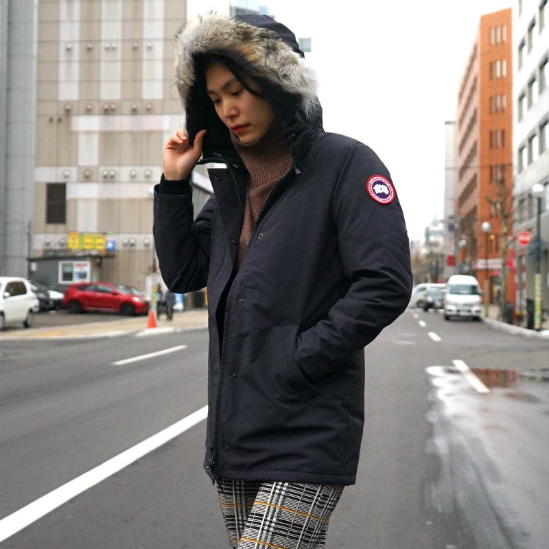 <img class='new_mark_img1' src='https://img.shop-pro.jp/img/new/icons6.gif' style='border:none;display:inline;margin:0px;padding:0px;width:auto;' />[CANADA GOOSE] カナダグース VICTORIA PARKA FF 3037LA (NAVY)