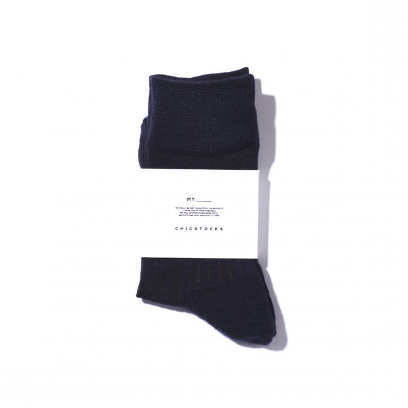 <img class='new_mark_img1' src='https://img.shop-pro.jp/img/new/icons8.gif' style='border:none;display:inline;margin:0px;padding:0px;width:auto;' />[MY] マイ MY×CHICKSTOCKS STRIPE SOCKS (BROWN・NAVY) 203-61903