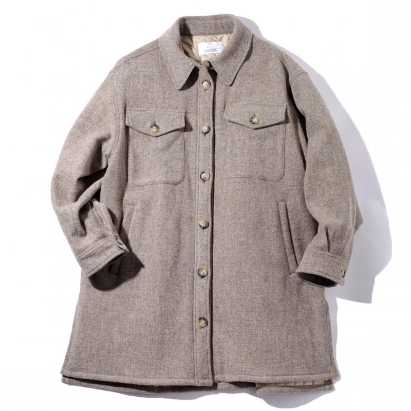 <img class='new_mark_img1' src='https://img.shop-pro.jp/img/new/icons8.gif' style='border:none;display:inline;margin:0px;padding:0px;width:auto;' />[MY] マイ CPO SHIRTS BLOUSON (BROWN・GRAY) 203-61402