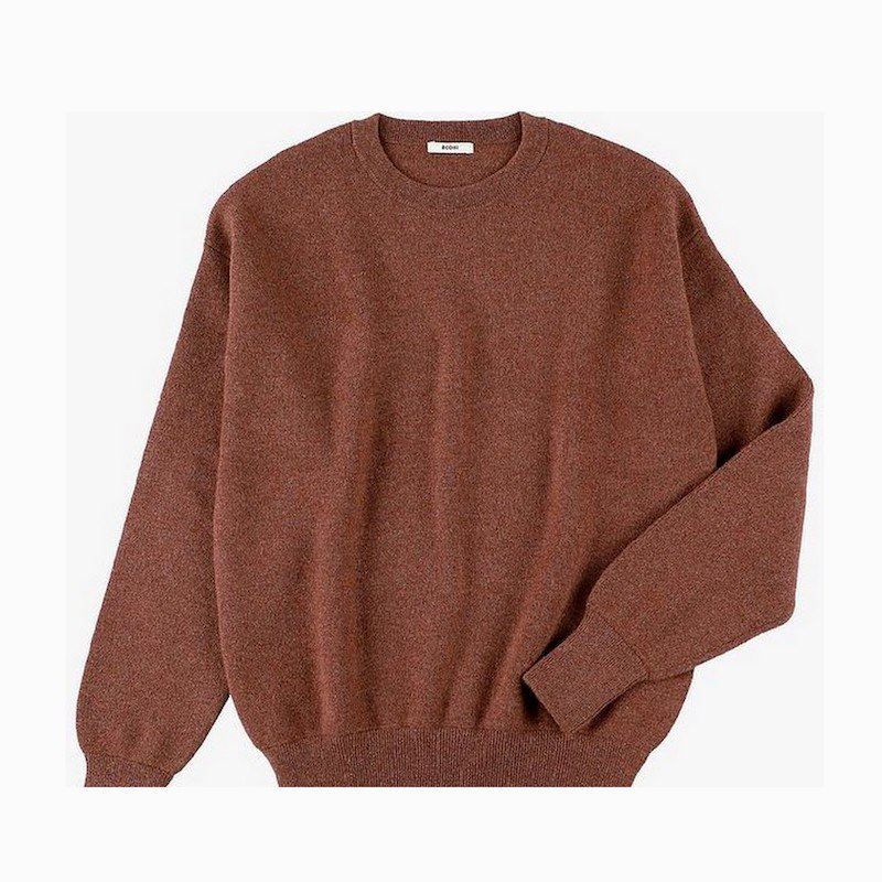 <img class='new_mark_img1' src='https://img.shop-pro.jp/img/new/icons8.gif' style='border:none;display:inline;margin:0px;padding:0px;width:auto;' />[BODHI] ボーディ PREMIUM CASHMERE SWEATSHIRTS (BROWN)