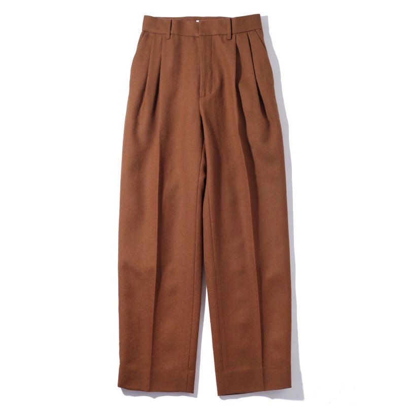 <img class='new_mark_img1' src='https://img.shop-pro.jp/img/new/icons8.gif' style='border:none;display:inline;margin:0px;padding:0px;width:auto;' />[MY] マイ 2TUCK TAPERED SLACKS (NAVY・BROWN) 203-61505
