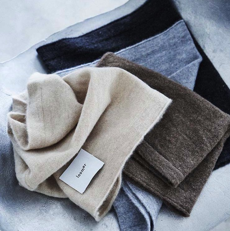 <img class='new_mark_img1' src='https://img.shop-pro.jp/img/new/icons8.gif' style='border:none;display:inline;margin:0px;padding:0px;width:auto;' />[loomer] ルーマー Cashmere Neck Warmer  (各色)
