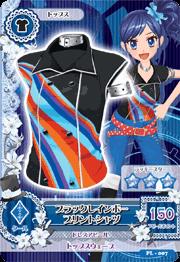 アイカツAK-PL-007(PR)ブラックレインボープリントシャツ /アイカツ!カードつきばんそうこう