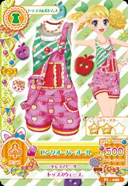 アイカツAK-PL-026(PR)ピンクオーバーオール /カードつき?入浴剤