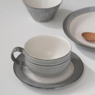 グレー スープカップ