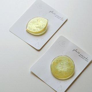 満月のブローチ/レモン月のブローチ