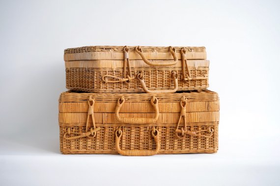 RATTAN BASKET 2set