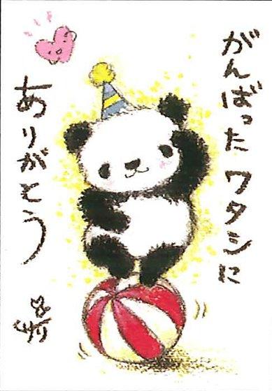 動物イラストポストカード がんばったワタシにありがとう Ssa 27