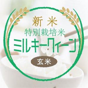 玄米ミルキークイーン(特栽米)30kg<精米サービス>