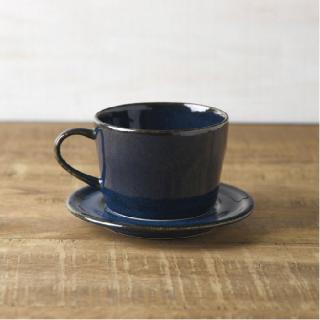 美濃焼 コーヒーカップ&ソーサー (北欧ブルー 深ブルー )