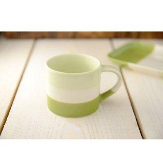 美濃焼  トレフ ミニマグカップ  さわやかグリーン