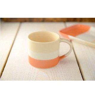 美濃焼  トレフ ミニマグカップ  ふんわりオレンジ