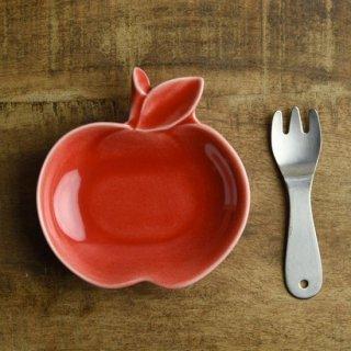 美濃焼 深山 apple りんご豆小皿 【赤/red】