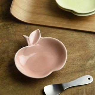 美濃焼 深山 apple りんご豆小皿 【桃/pink】