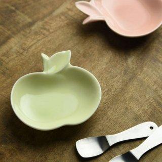 美濃焼 深山 apple りんご豆小皿 【ヒワ/green】