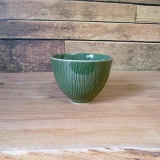 美濃焼 深山(miyama.) crease-クリース- 煎茶碗 織部