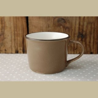 美濃焼  ホーローみたいなマグカップ (ブラウン)