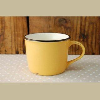 美濃焼  ホーローみたいなマグカップ (イエロー)