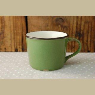 美濃焼  ホーローみたいなマグカップ (グリーン)