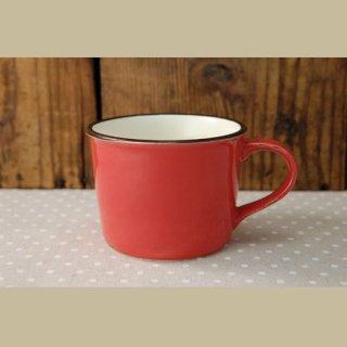 美濃焼  ホーローみたいなマグカップ (レッド)