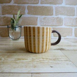 穂屋工房−inahoya− 切立マグカップ(縦じま茶)