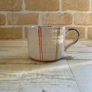 美濃焼 リンゴマグカップ (ライン)