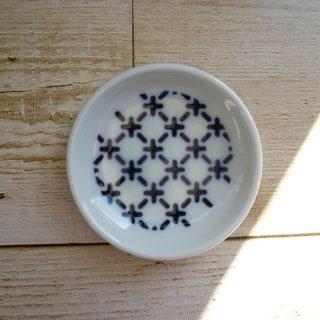 波佐見焼 豆皿/Kuvio white&navy  古典文様(クロス)