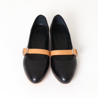DELMONACO belt pumps -black/natural-