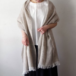 Ense linen stole -brown-
