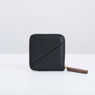 wood zipper wallet ( gray 再入荷 )