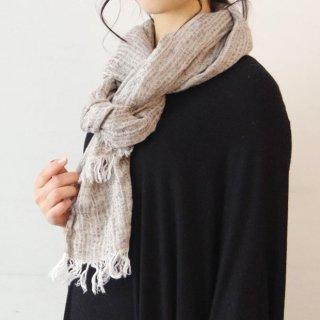 Ense linen stole -merange gray-