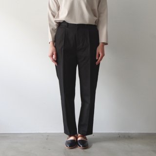cotton pants -black-