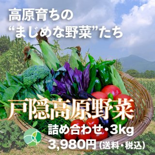 戸隠高原野菜・詰め合わせ(3kg)信州産