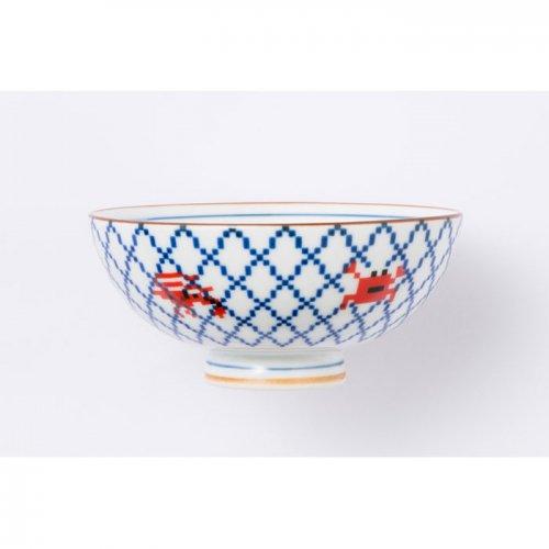 網目 茶碗
