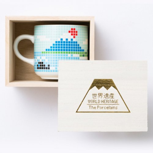 フジヤマ タイルマグ(小)木箱1入