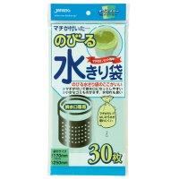 ジャパックス NB21 のびる水切り袋 排水口用マチ付 30枚 緑/黄