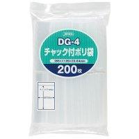 ジャパックス DG-4 チャック付ポリ袋 透明0.04