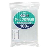ジャパックス GG-4 チャック付ポリ袋 透明0.04