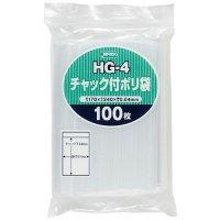 ジャパックス HG-4 チャック付ポリ袋 透明0.04
