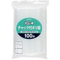 ジャパックス IG-4 チャック付ポリ袋 透明0.04