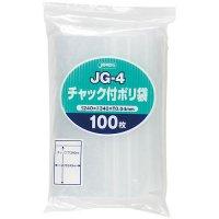 ジャパックス JG-4 チャック付ポリ袋 透明0.04